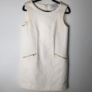 🔥NWT J. Crew cream shift dress size S